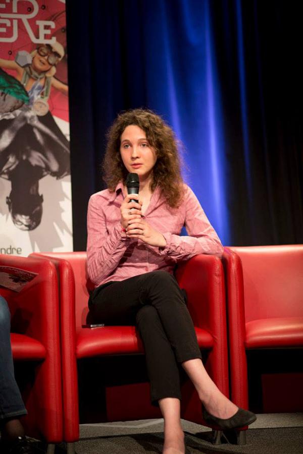 """Célya Gruson-Daniel, diplômée de l'ENS et de l'UPMC en neuroscience cognitive et comportementale, Community manager d'un réseau social scientifique. """"Jeune pousse"""" du FCE"""