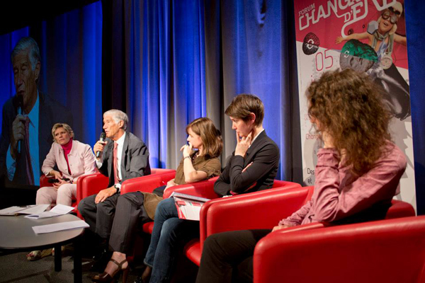 Véronique Anger-de Friberg, Joël de Rosnay, Geneviève Ferone, Blanche Segrestin et Célya Gruson-Daniel